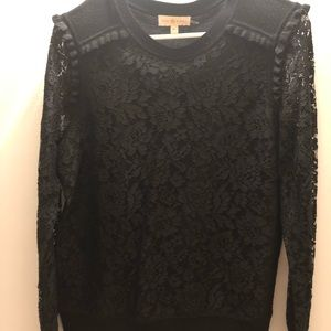 Tory Burch lace sleeve sweater